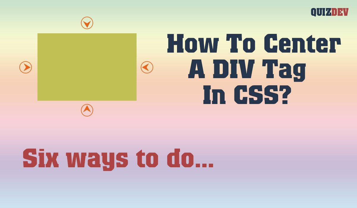 How to center a div tag in CSS   horizontal & vertical align